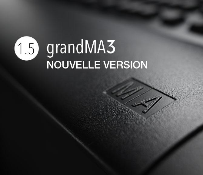 MA logiciel grandMA3 version 1.5
